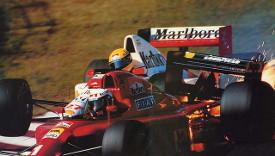 Senna Prost Suzuka 90
