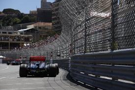 Sergio Perez in action a Monaco