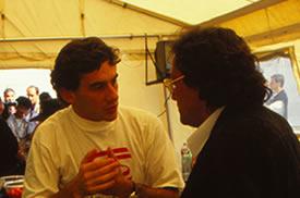 Giancarlo Minardi e Ayrton Senna