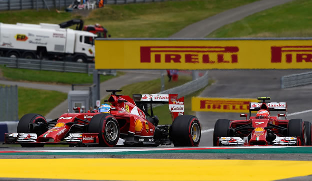 Ferrari - GP Austria - Alonso e Raikkonen in pista