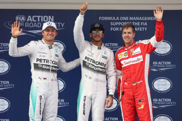 Hamilton, Rosberg, Vettel