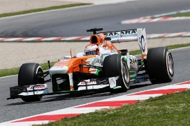 Force India nelle qualifiche del Gp di Spagna