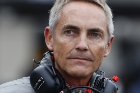 Martin Whitmarsh in the pit lane
