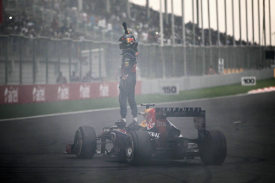 I burnout di Sebastian Vettel