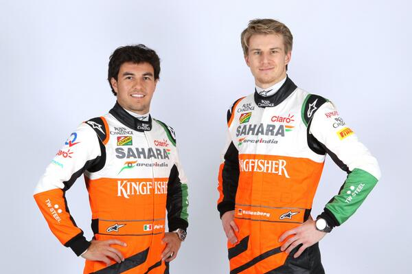 sergio perez-nico hulkenberg-force india