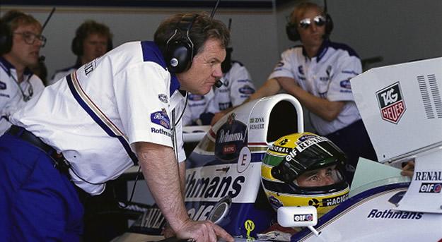 Senna e Patrick Head