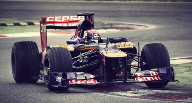 Max Verstappen al primo test con la Toro Rosso