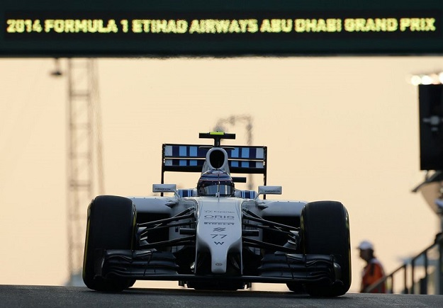 Williams Bottas Abu Dhabi 2014