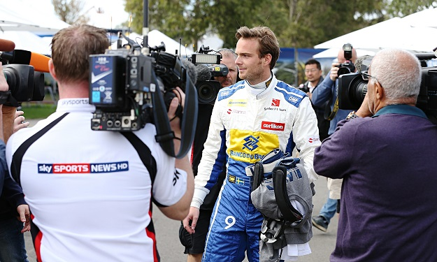 Giedo van der Garde in Sauber overalls during practice at Albert Park