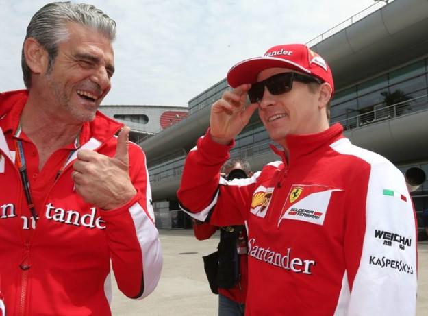 Kimi Raikkonen e Maurizio Arrivabene