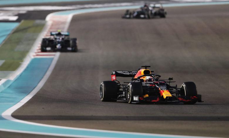 La Red Bull di Verstappen ad Abu Dhabi 2020